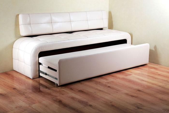Белая кровать раздвижная