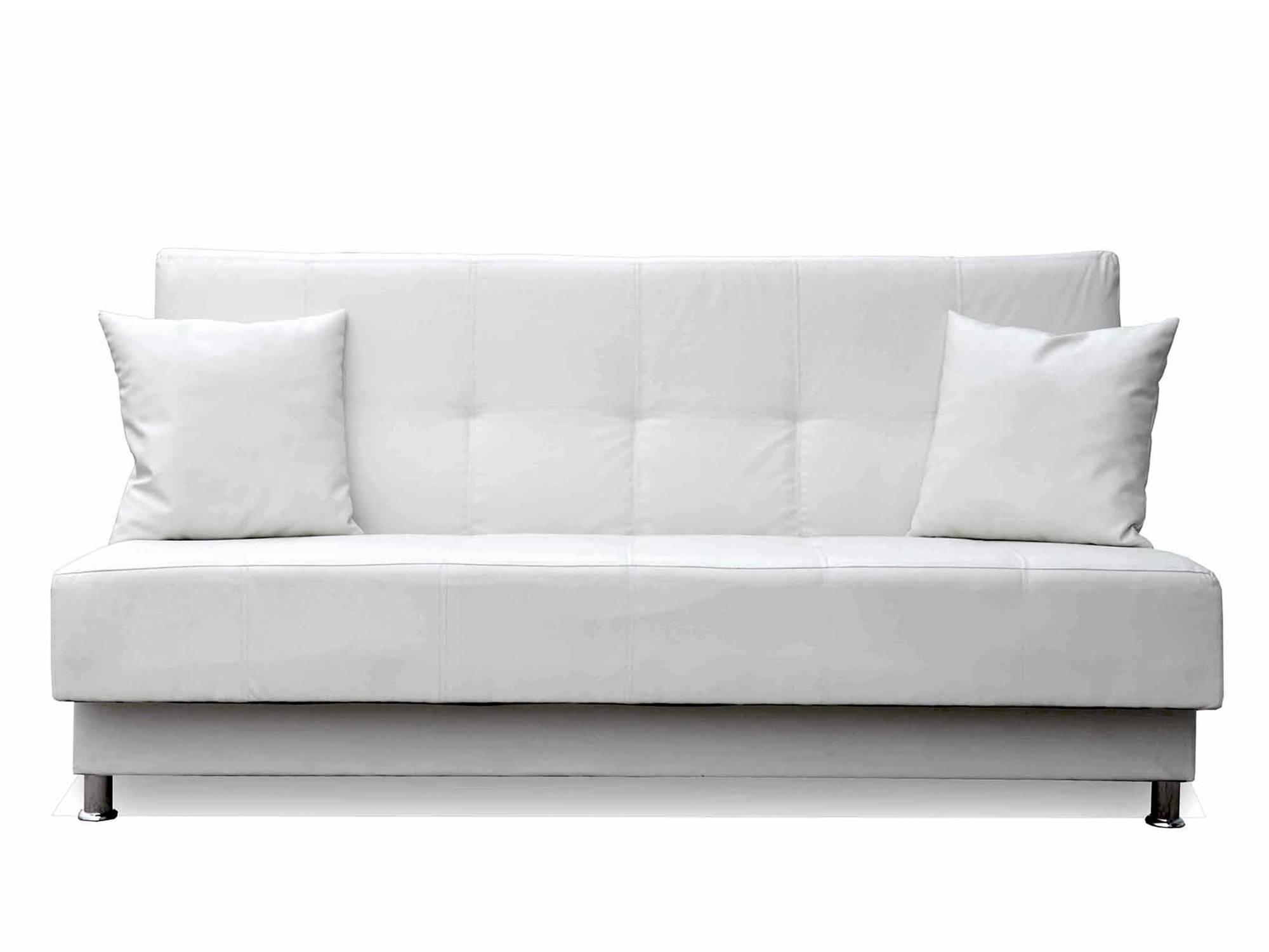 Белый диван с подушками