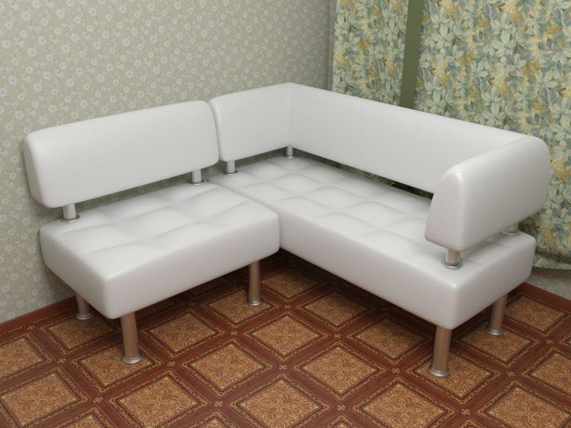 Белый диван в кухню