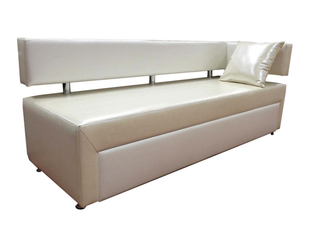 Белый прямой диван