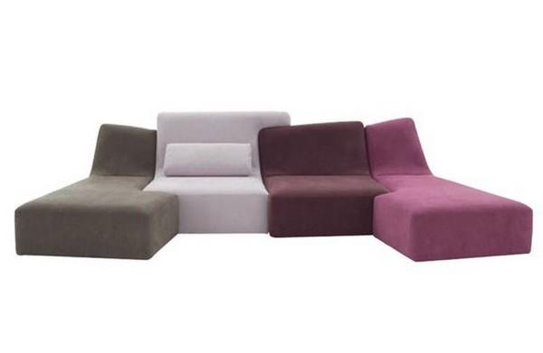 Бескаркасный модульный диван