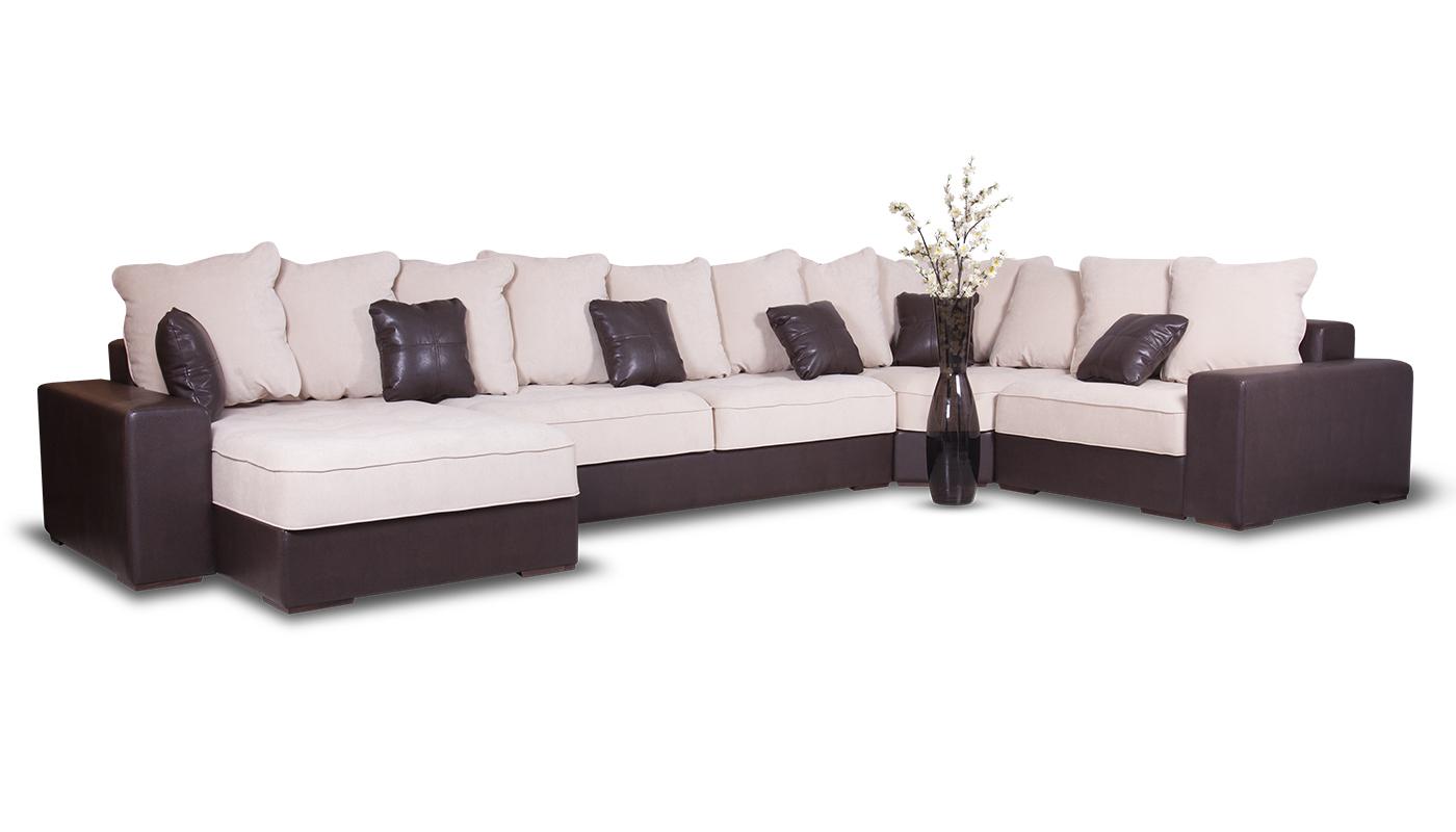 Большой п образный диван