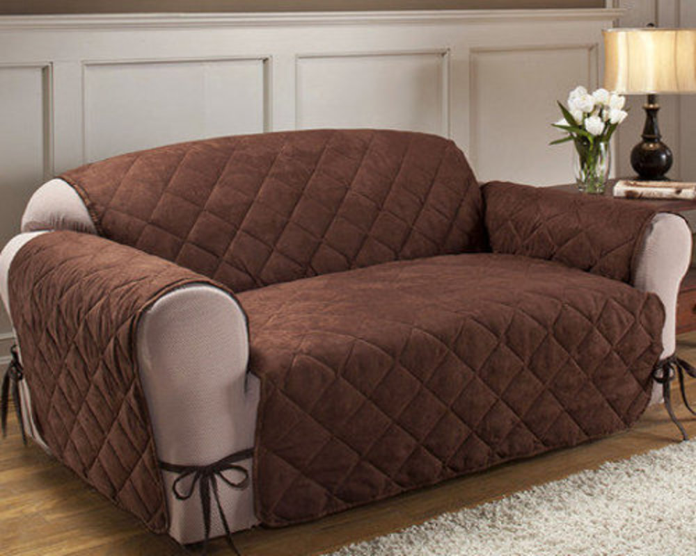 Чехол на диван с завязками