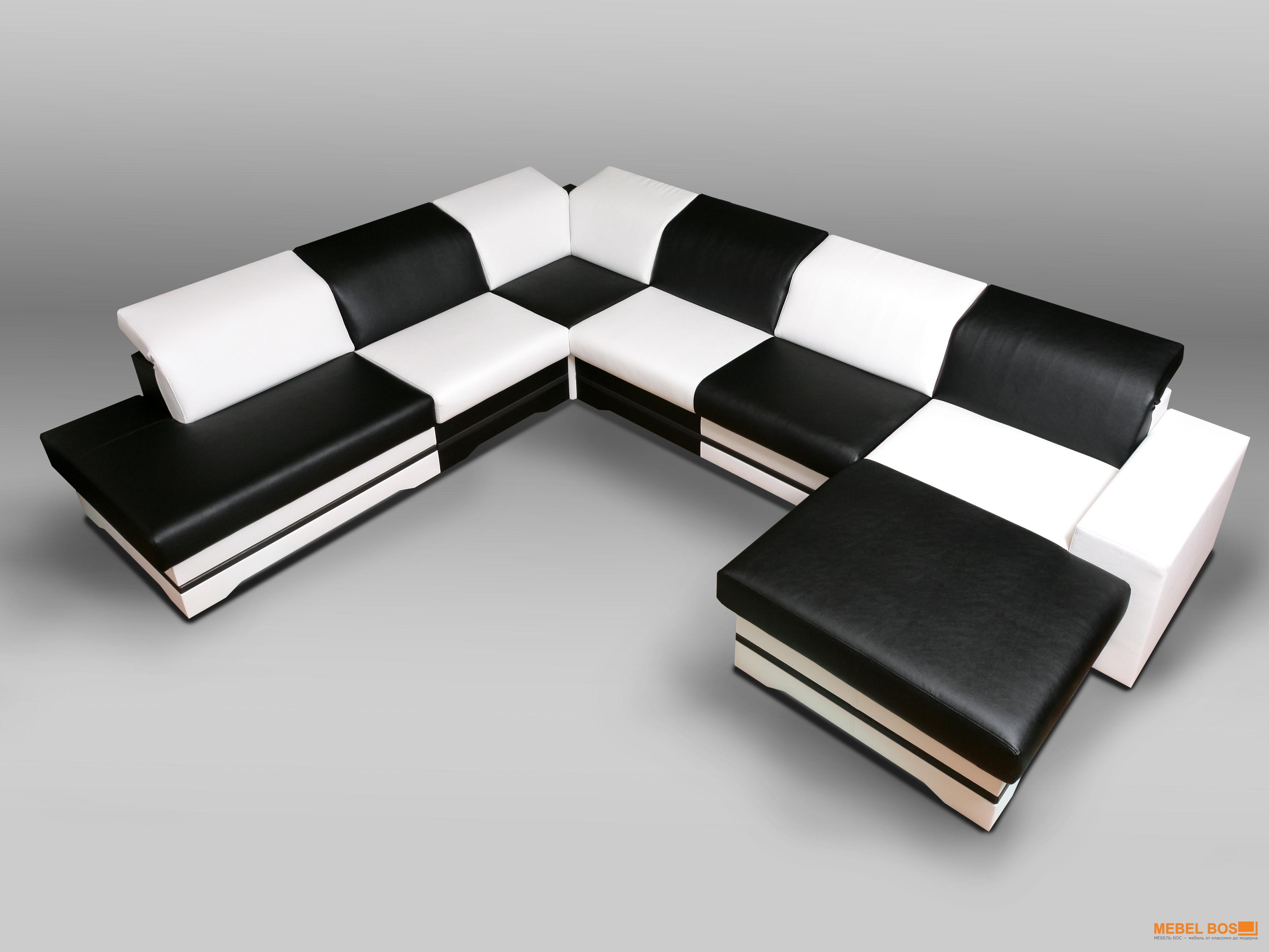 Черно-белый диван