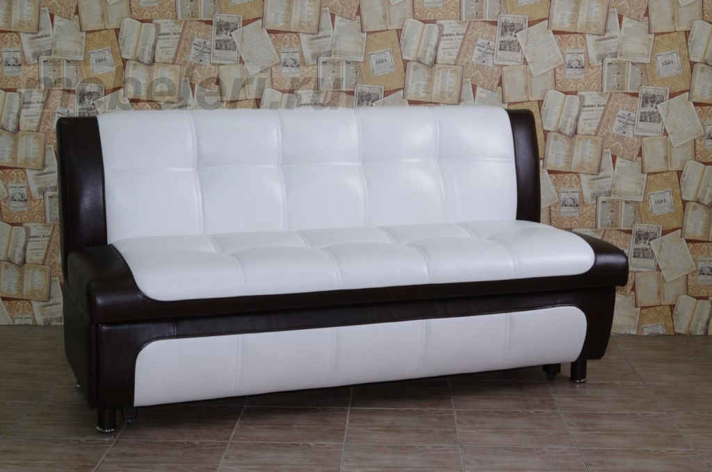 Черно-белый кухонный диван