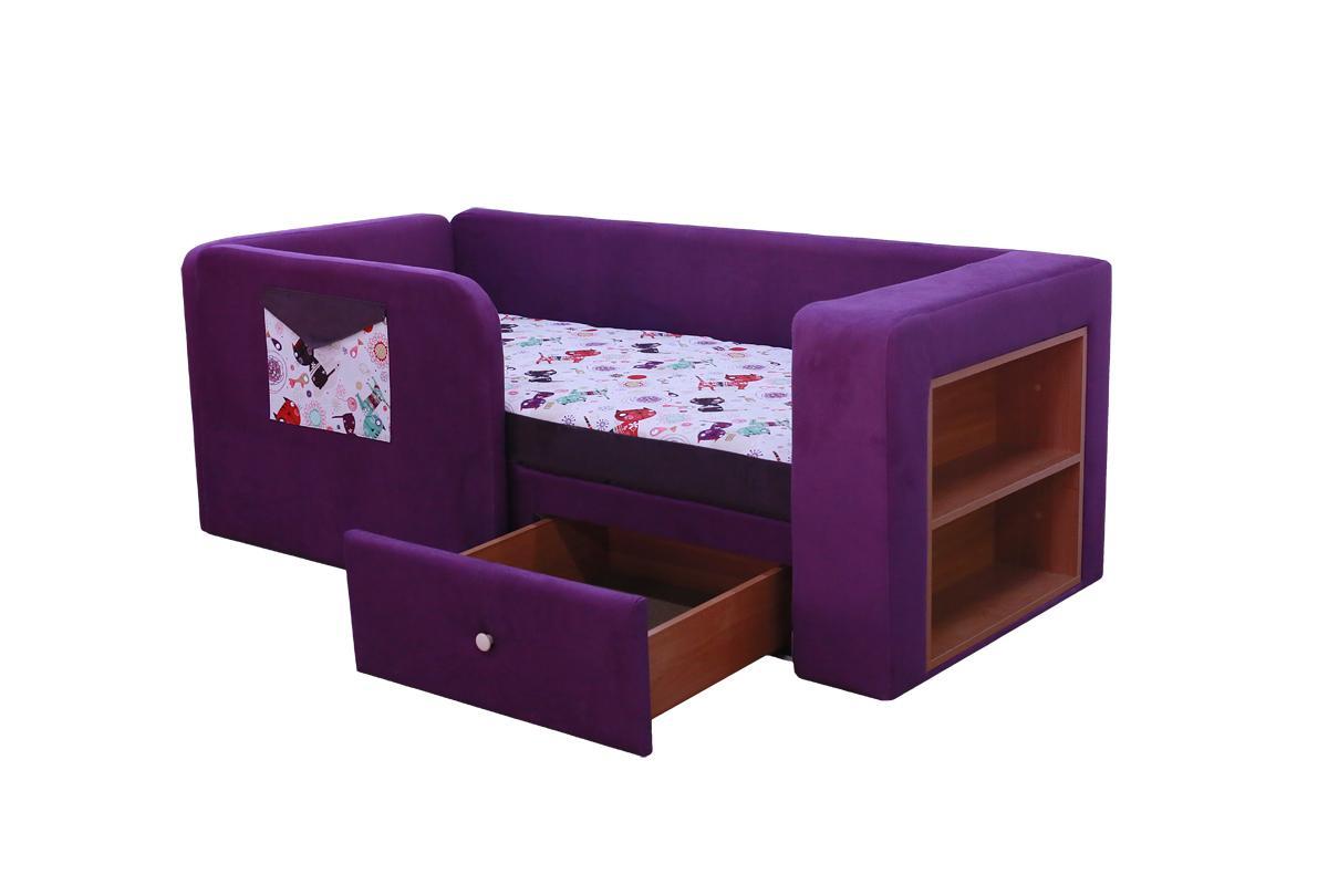 Диван кровать с бортиками и ящиком