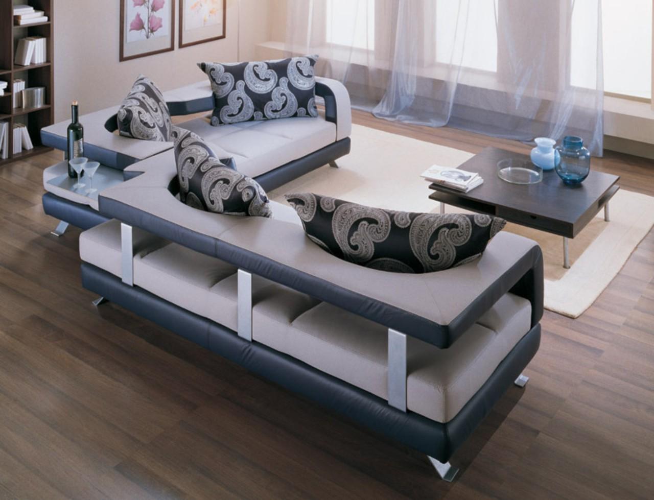 Дизайн больших и маленьких угловых диванов