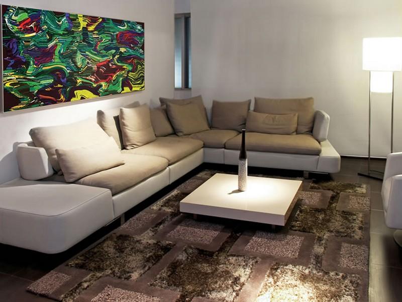 Дизайн углового дивана в гостиной