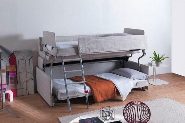 Двухъярусный диван в интерьере