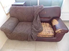 Как еврочехол меняет вид дивана