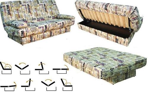 Как раскладывается диван клик кляк