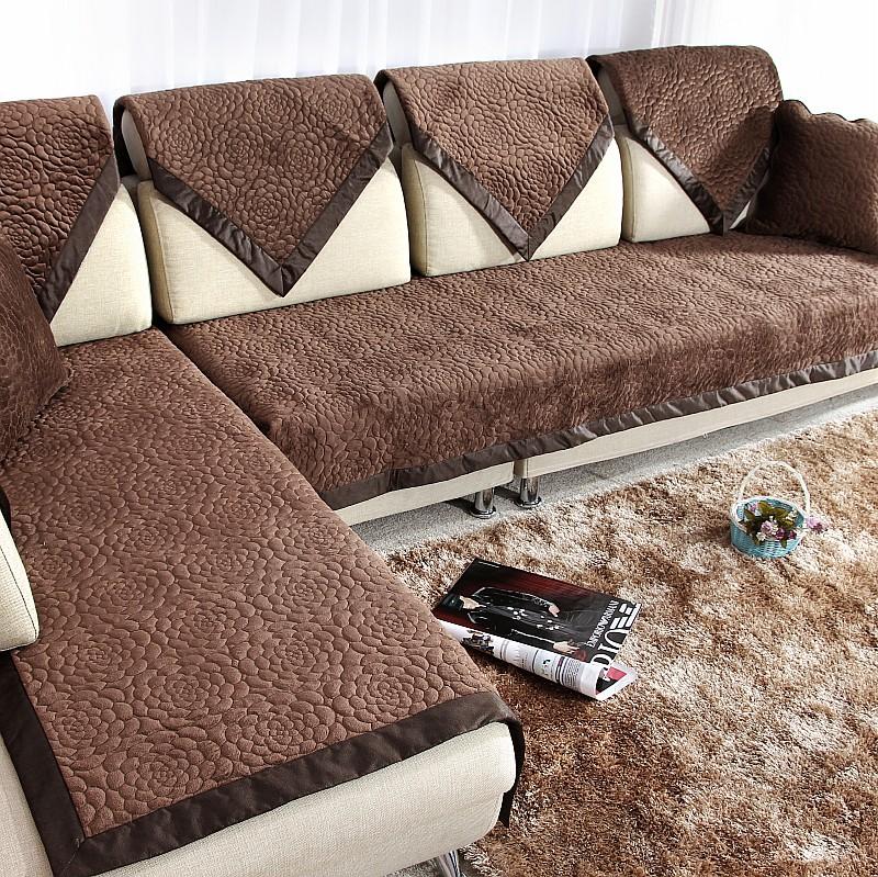 Коричневые чехлы на диван