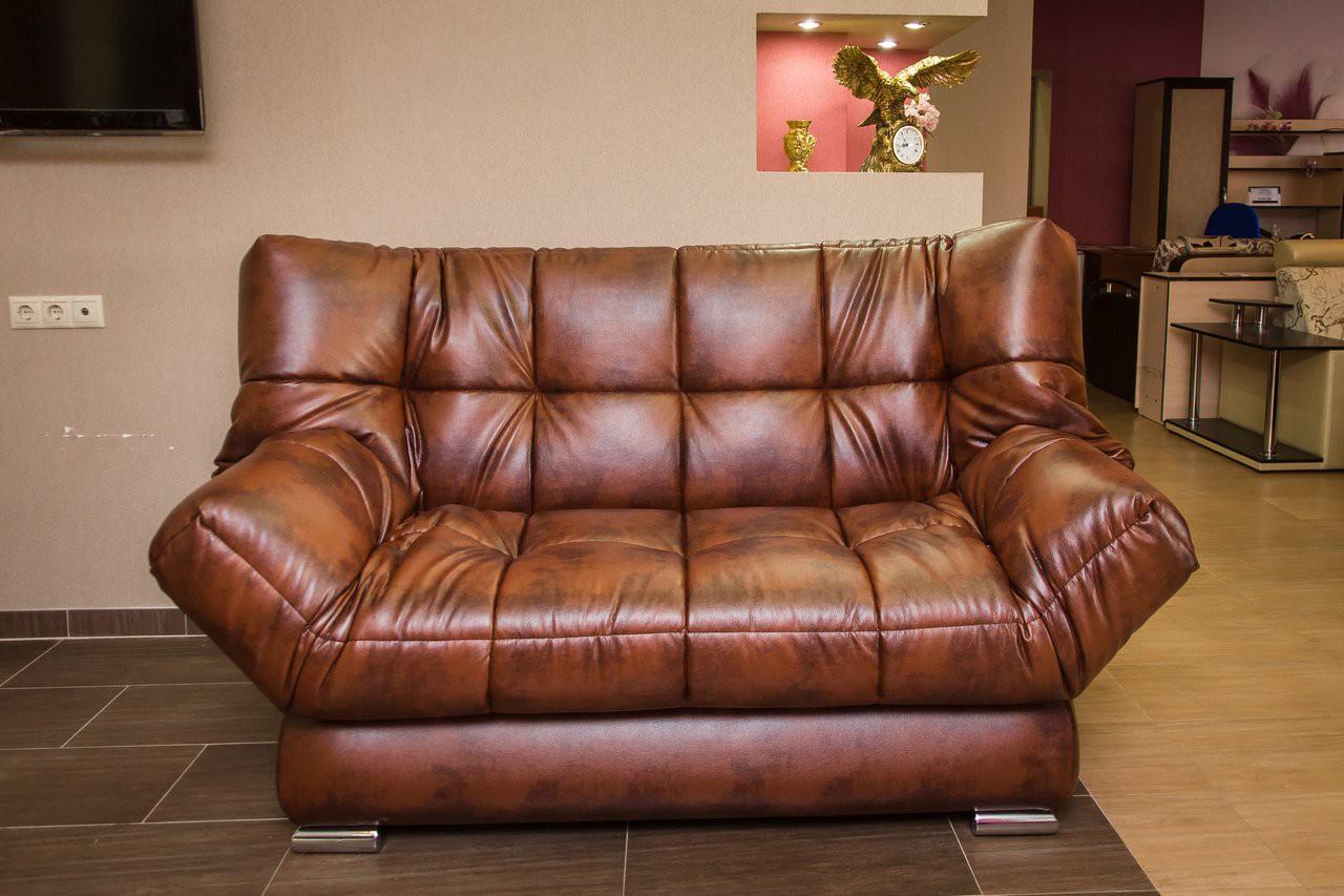 Кожаный диван клик-кляк