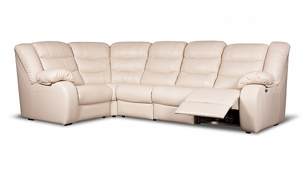Кожаный диван реклайнер