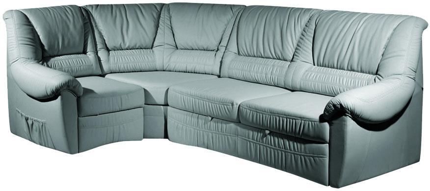 Кожаный диван с высокой спинкой