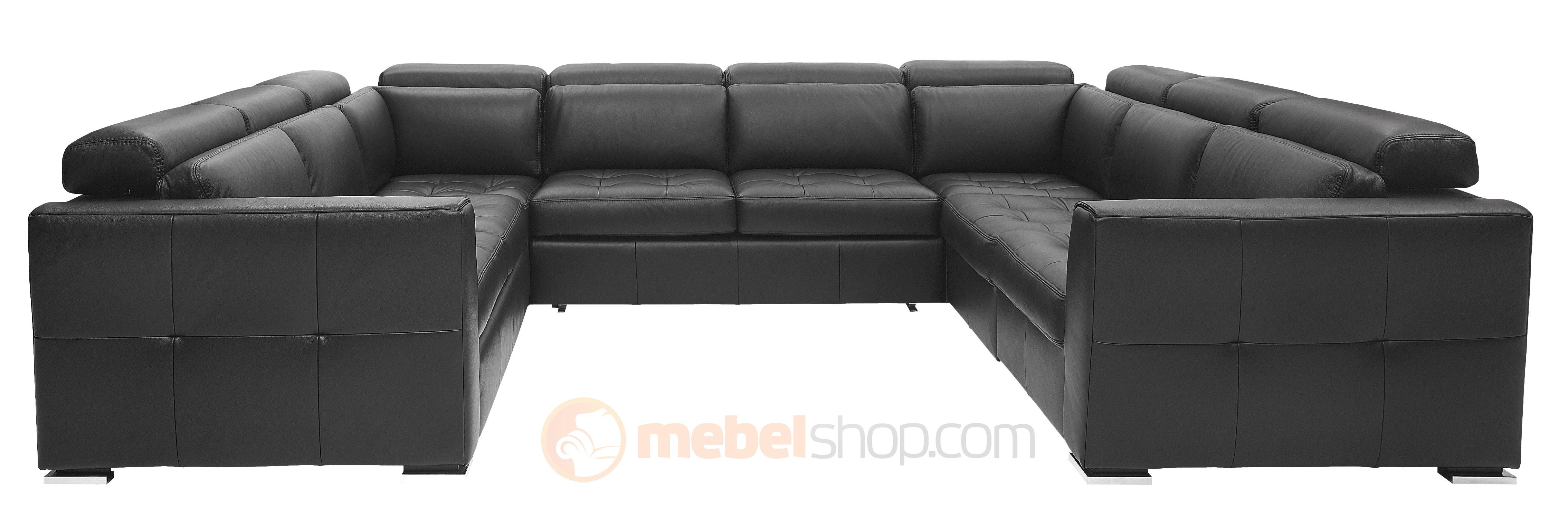 Кожаный равносторонний диван