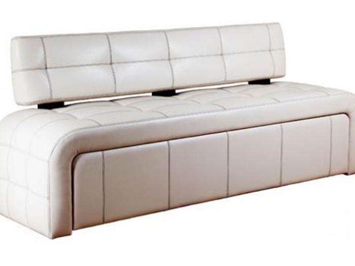 Кухонный диван в белом цвете