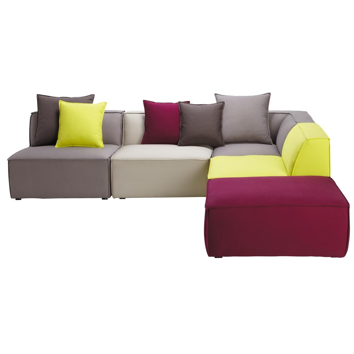 Многоцветный модульный диван