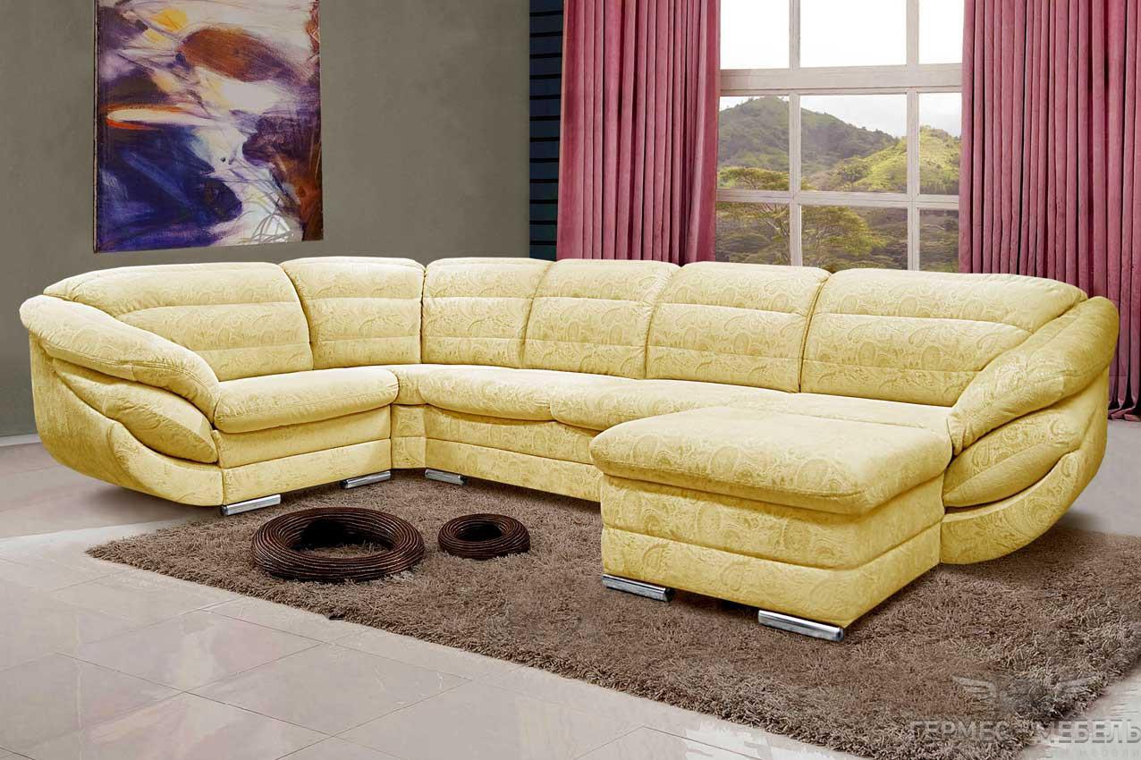 Модульный диван желтый