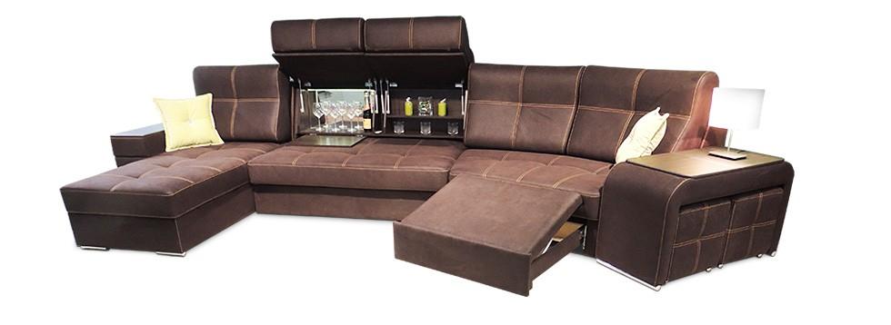 П образный диван оригинальной формы