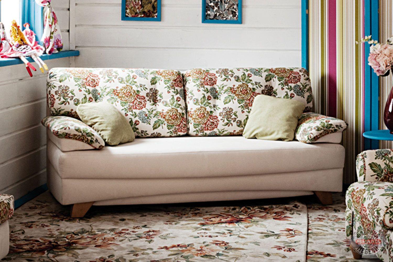 Прямой диван в стиле прованс