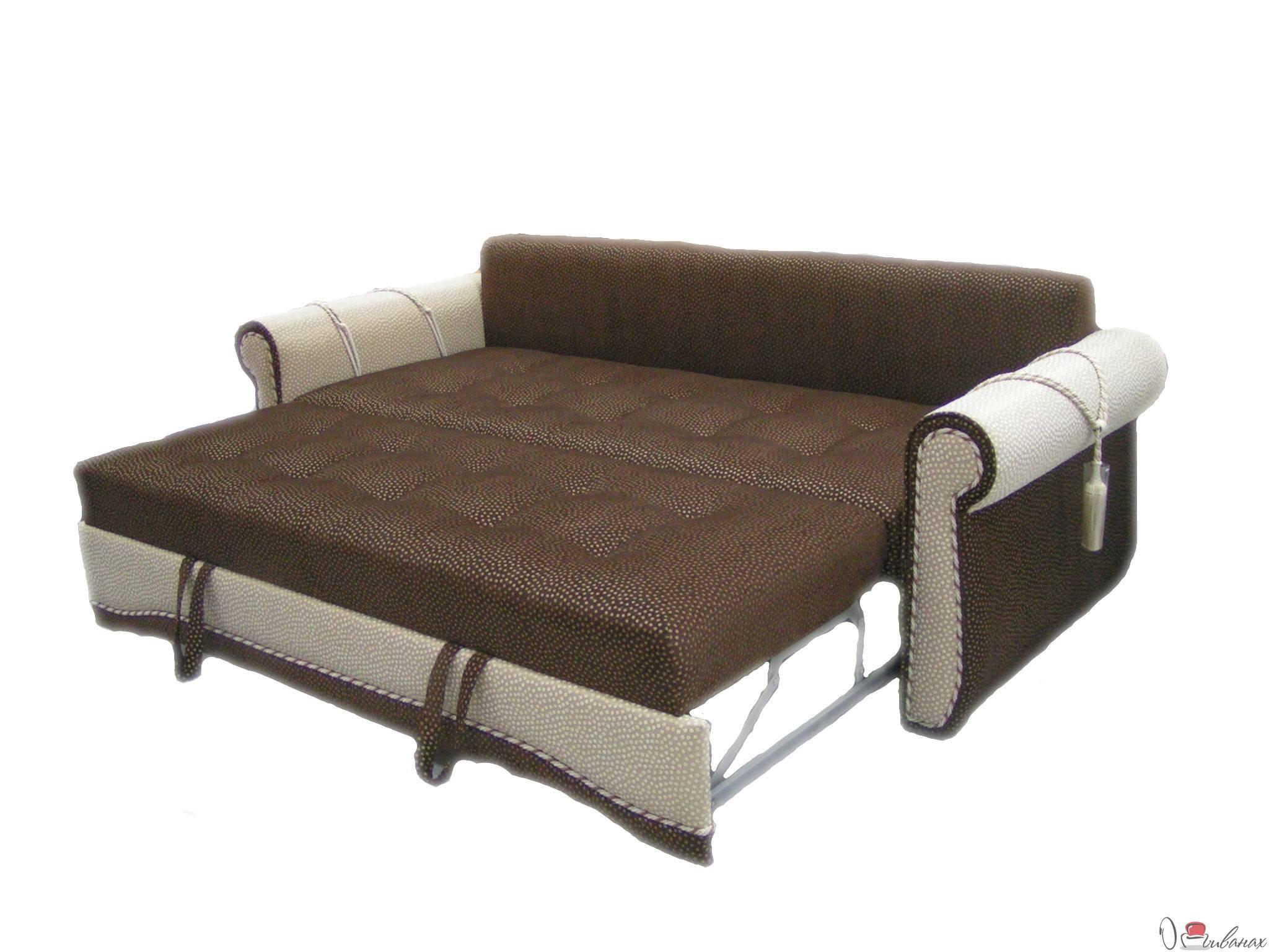 Прямой коричневый диван