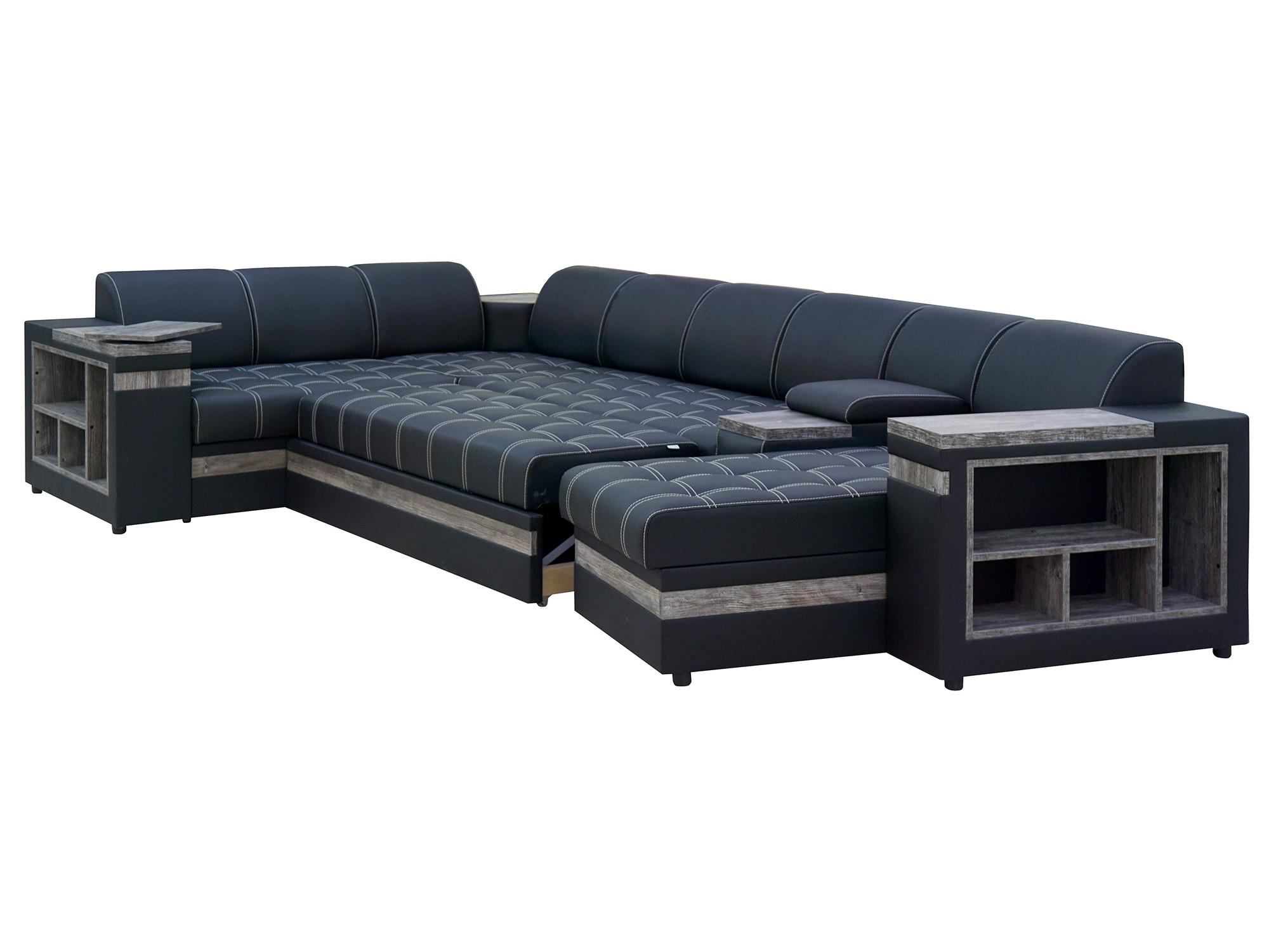 Раскладной п образный диван