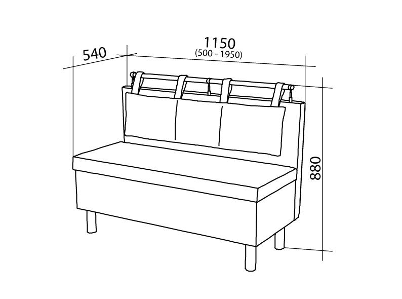 Размеры кухонного дивана