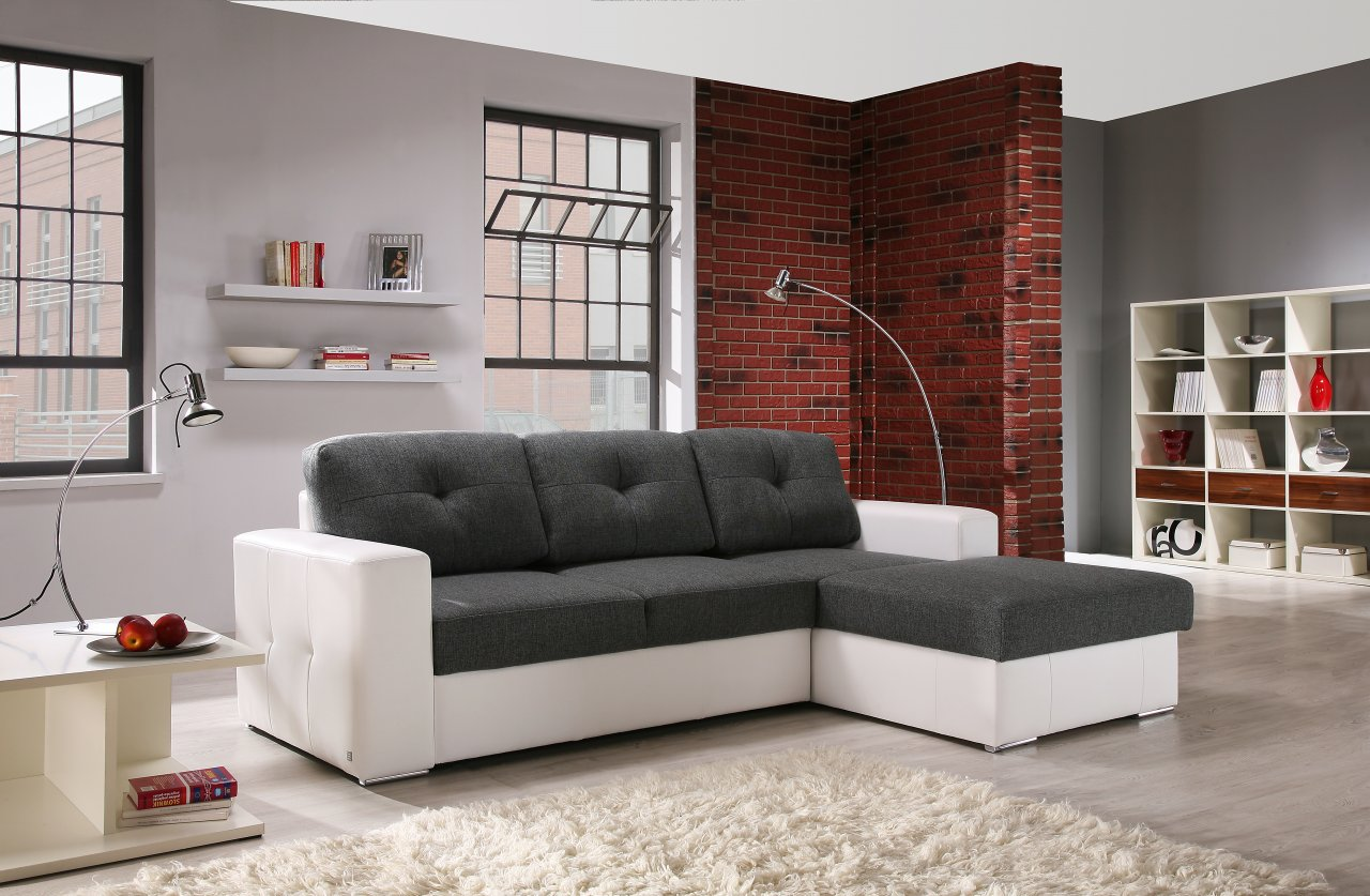 Серо-белый диван