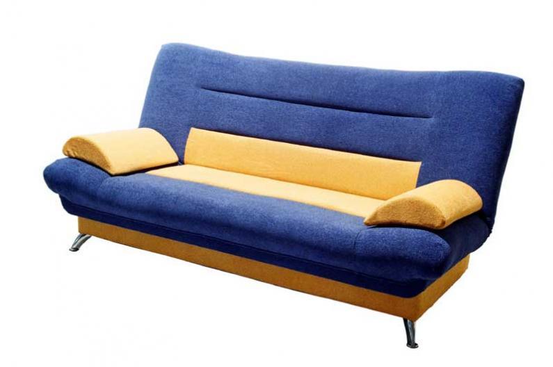 Сине-желтый диван