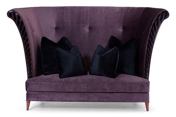 Сиреневый диван в гостиную