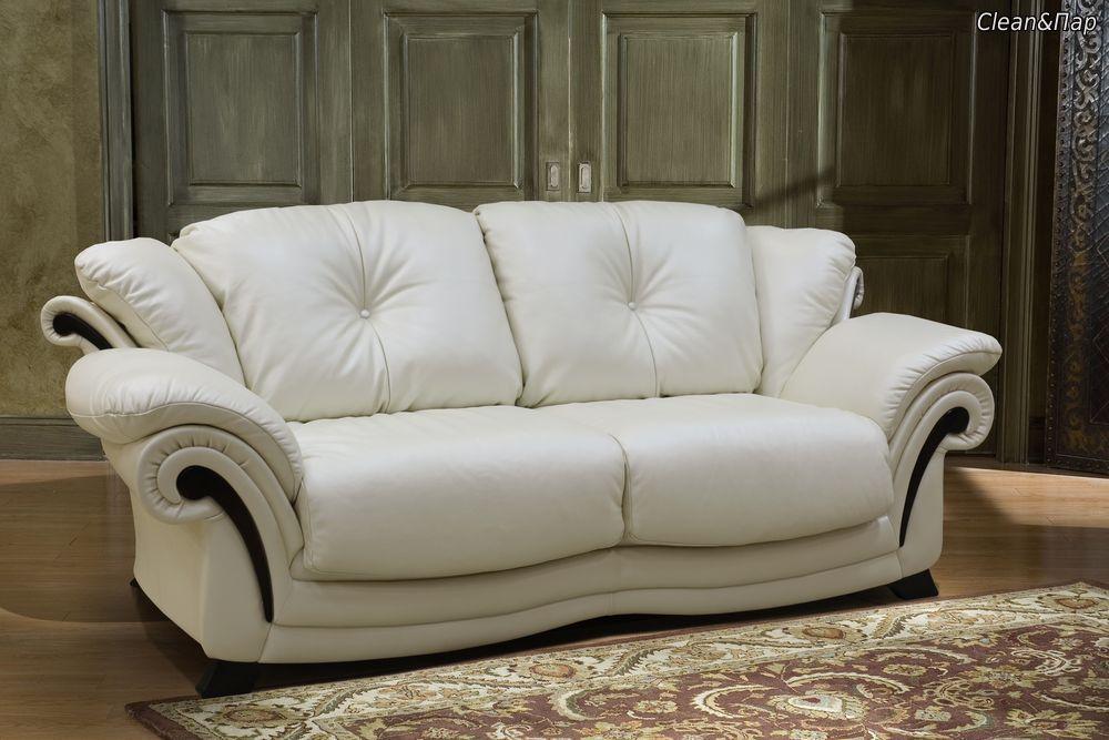 Солидный белый диван