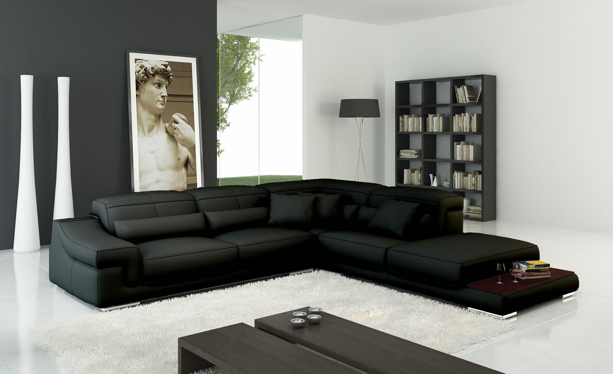 Современный мягкий угловой диван в интерьере
