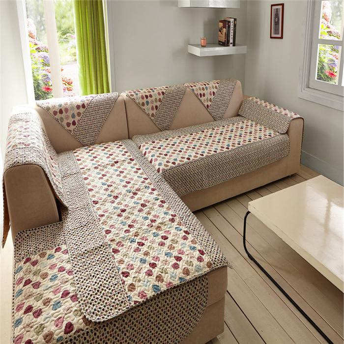 Сшить покрывало на угловой диван