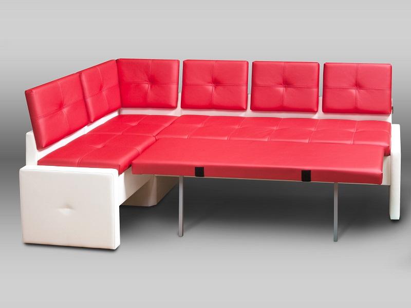 Стильный кухонный диван, со стёгаными сидениями