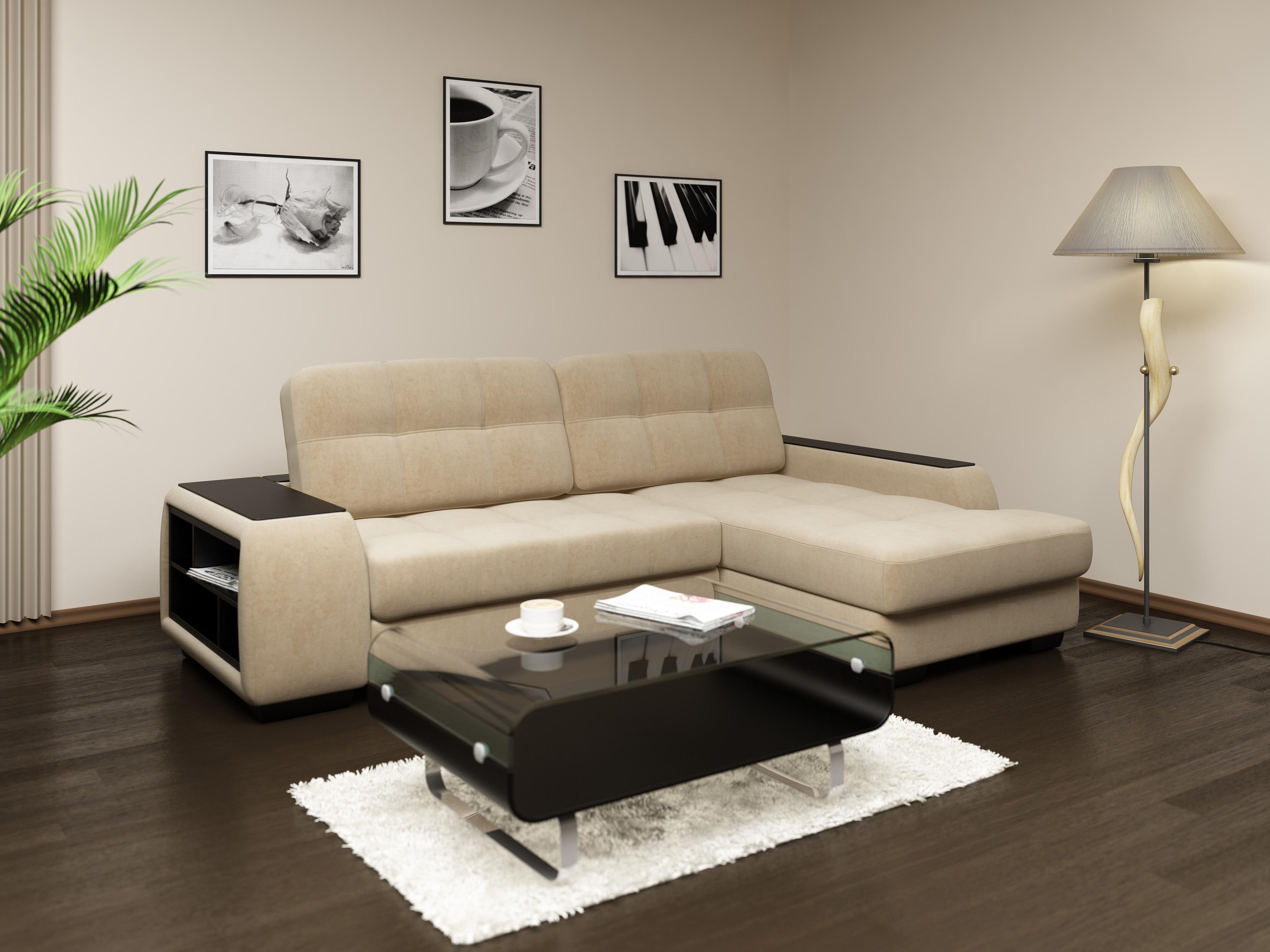 Светлый диван в интерьере