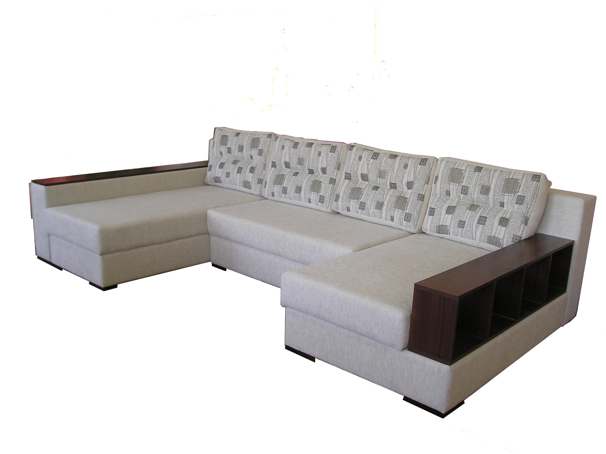 Светлый п образный диван