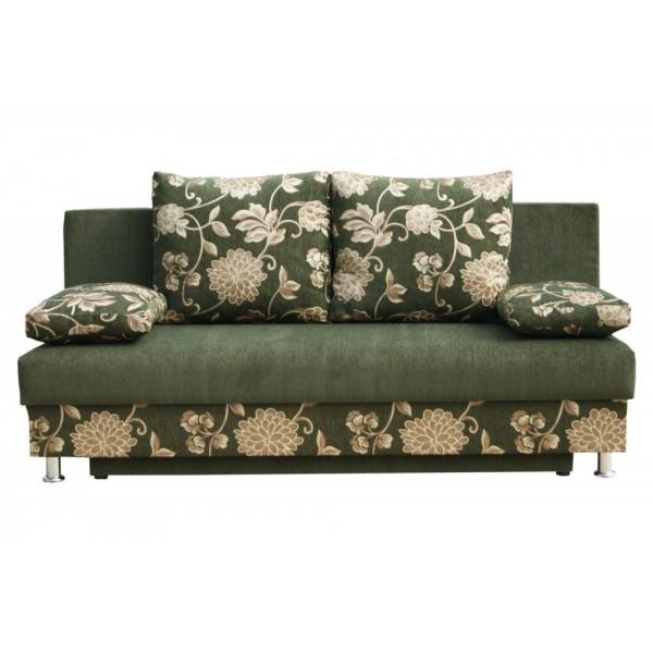 Темно-зеленый диван