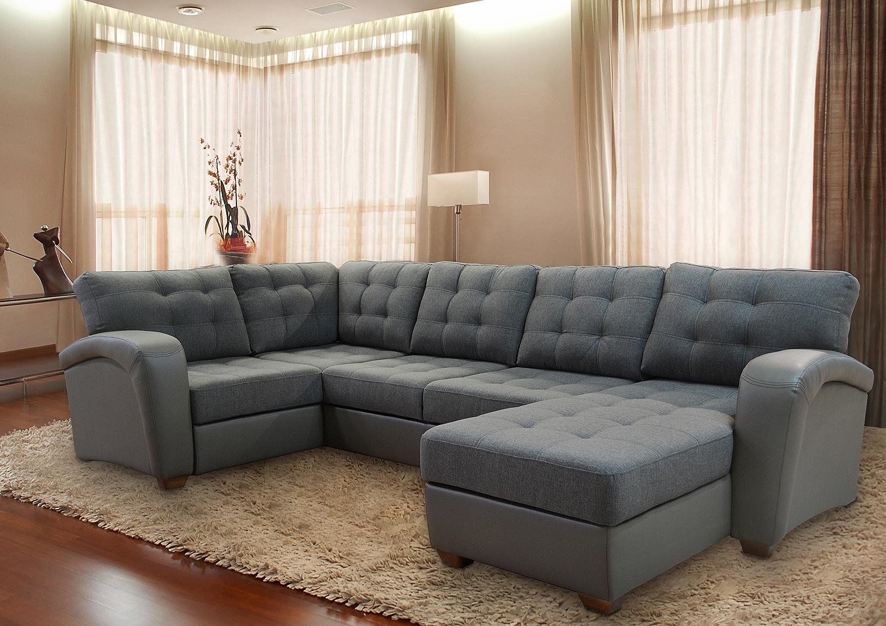 Угловой диван п образный