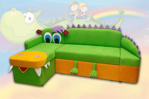 Угловой диван с бортиками