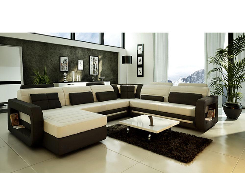 Угловой диван с удобными подлокотниками