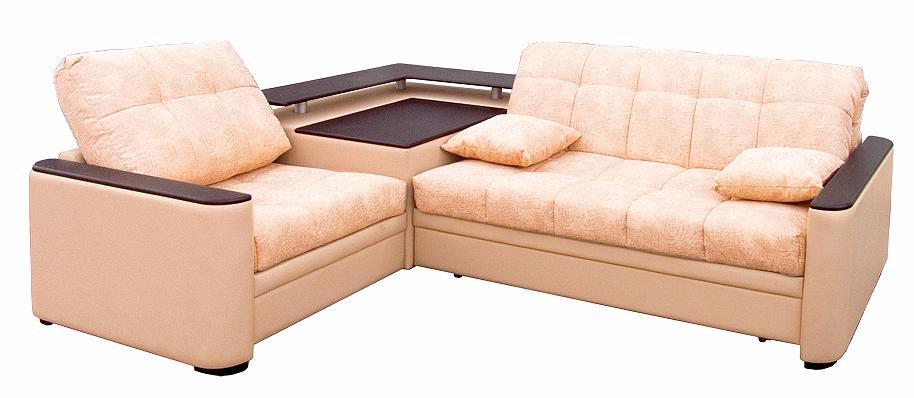 Угловой светлый диван