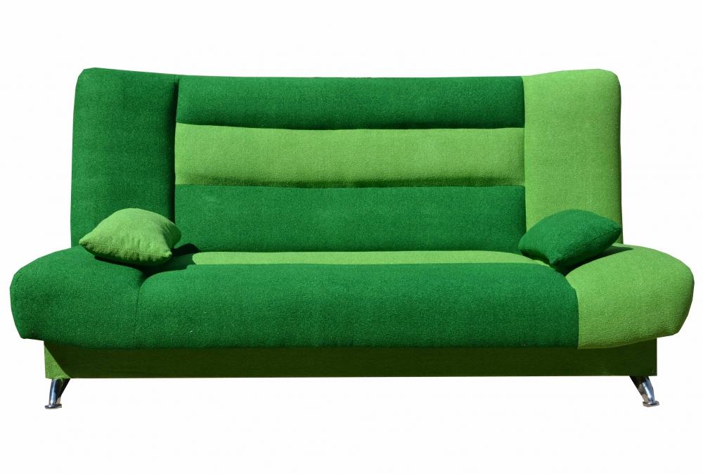 Ярко-зеленый диван книжка