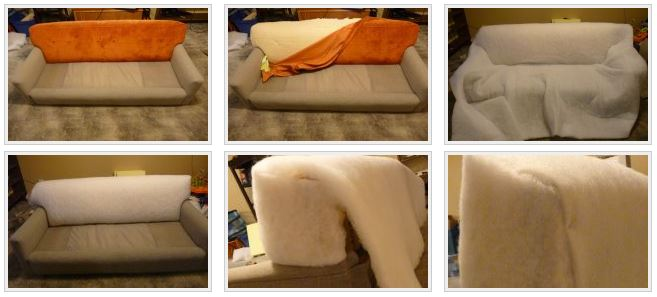 Задняя часть дивана
