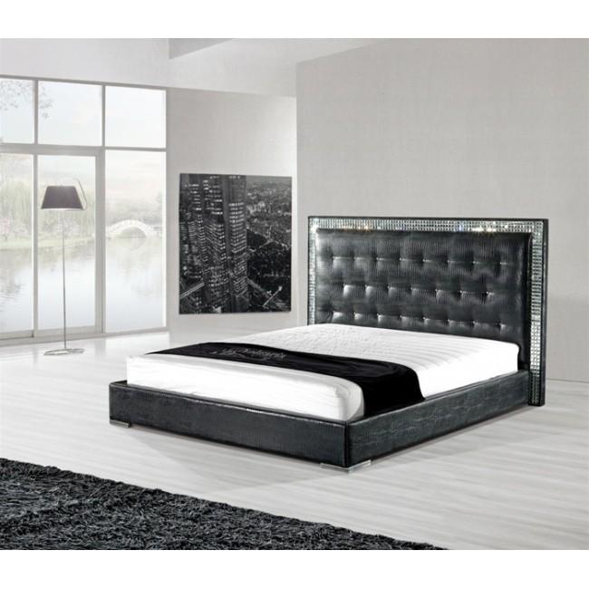 Черная современная кровать
