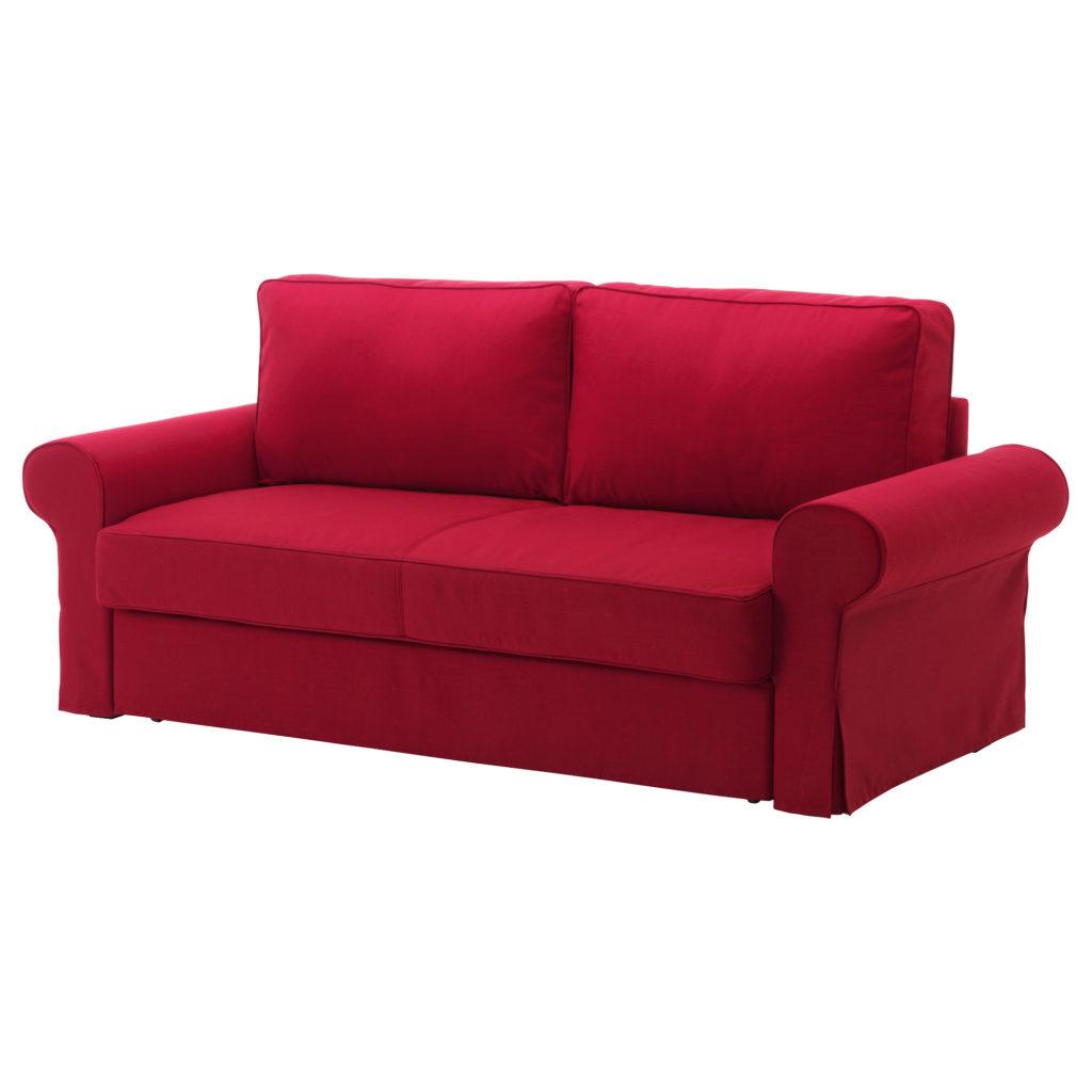 Диван-кровать красного цвета