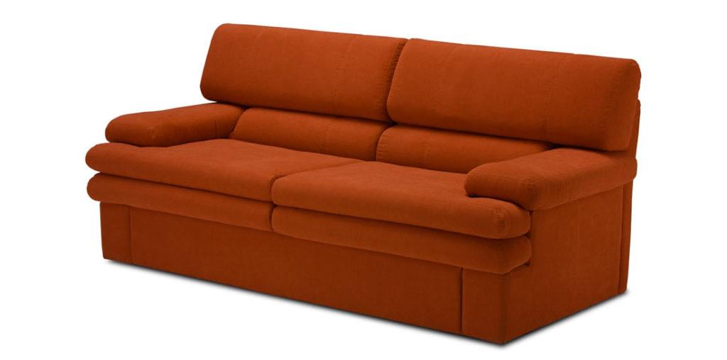 Диван-кровать оранжевого приятного оттенка