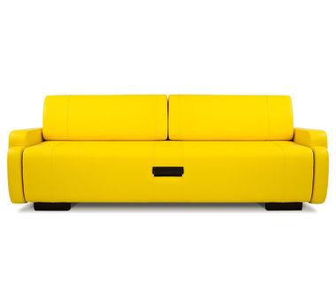 Диван-кровать в привлекательном желтом цвете