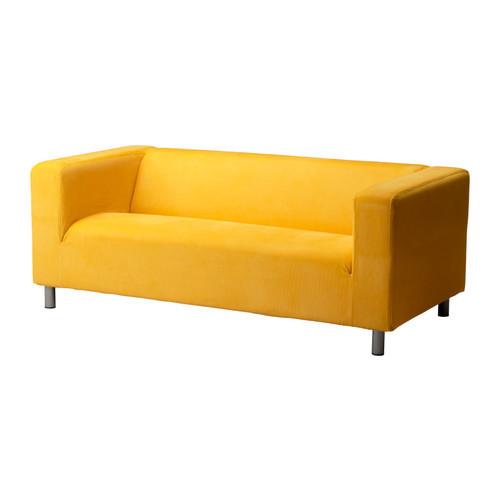 Диван желтого насыщенного цвета