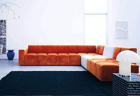 Диваны оранжевого цвета для дома